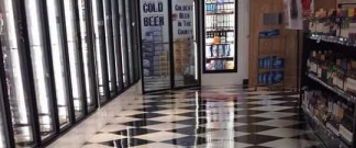 Waxed commercial floor in Lutz, FL